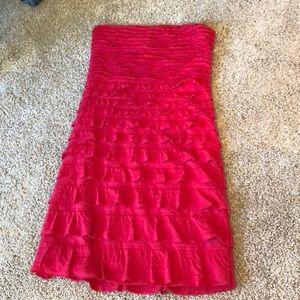 Express Strapless Ruffle Tube Dress
